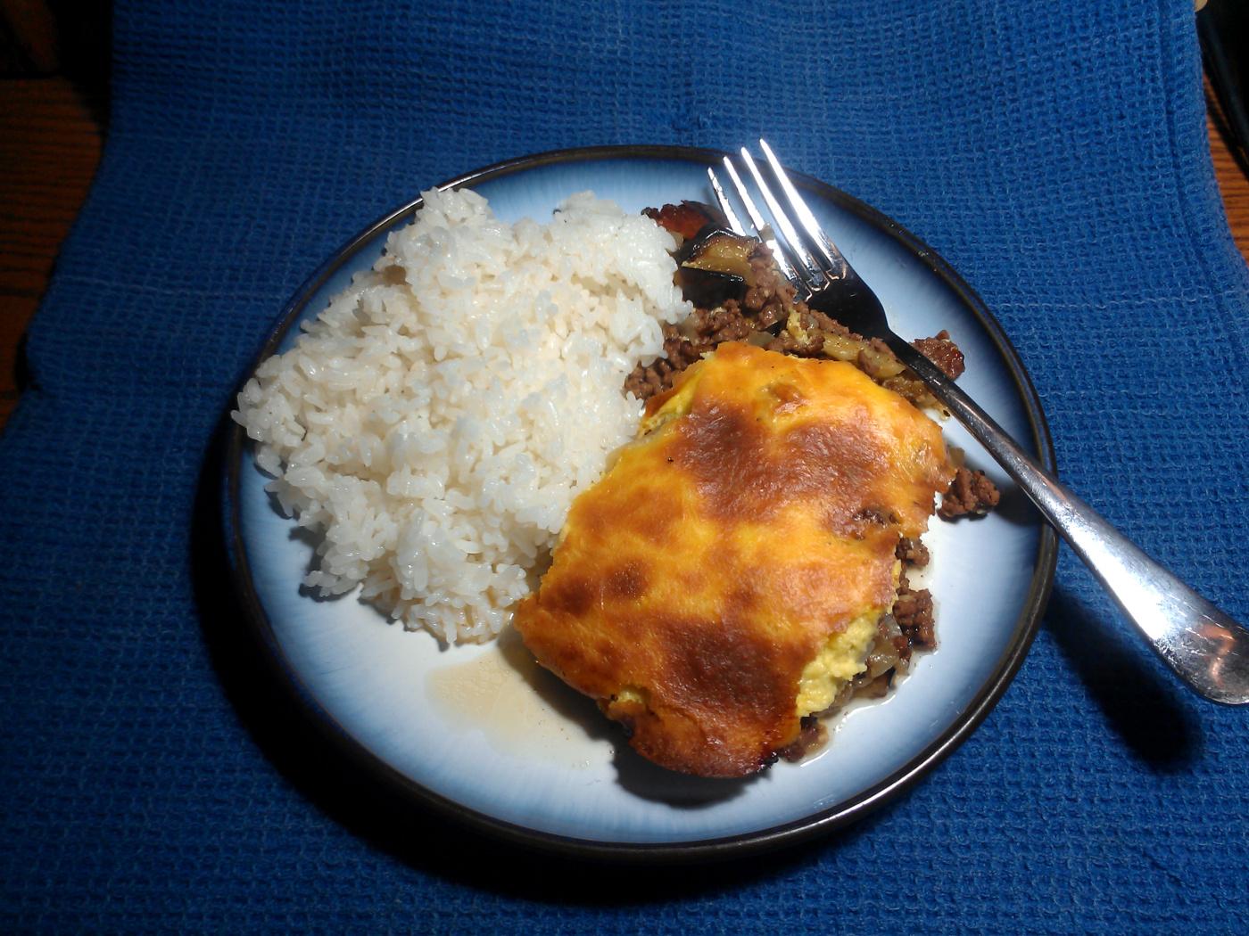 Plated Moussaka