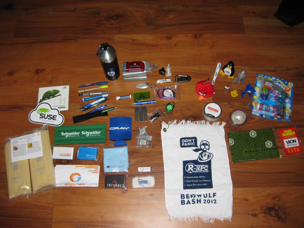Other miscellaneous schwag from SC12