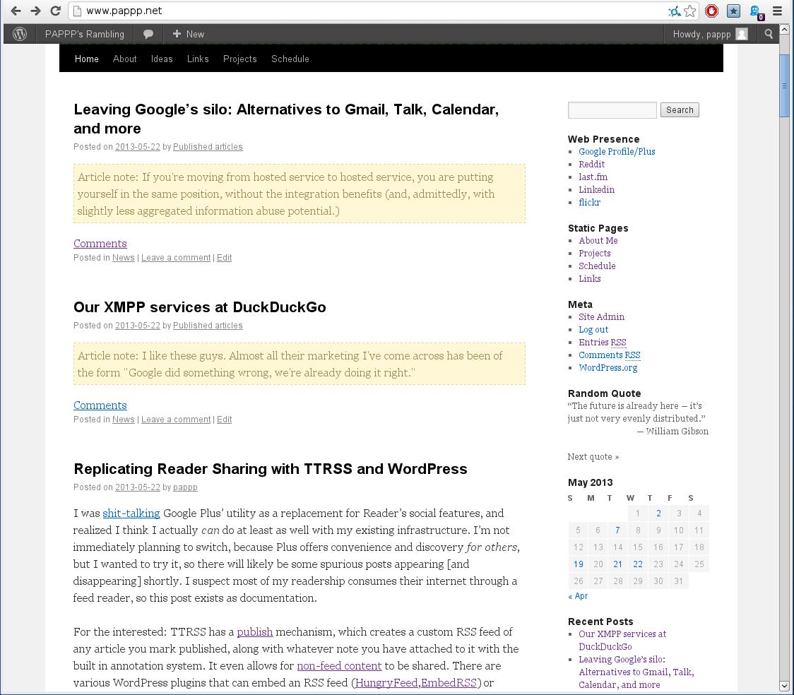 wordpress | PAPPP's Rambling