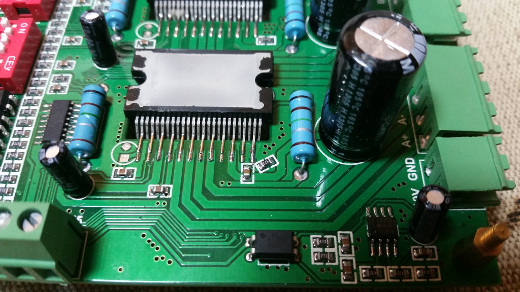 Cold joints on the TB6600 driver board