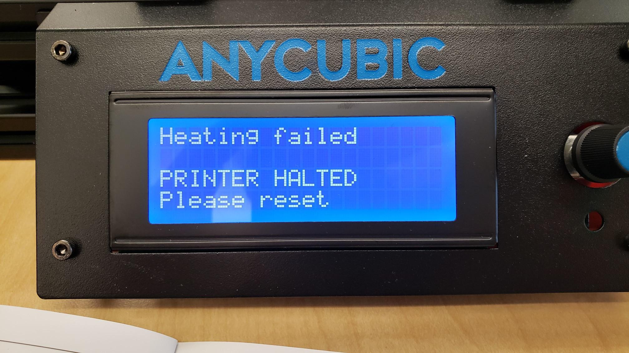 Heating Failiure Error
