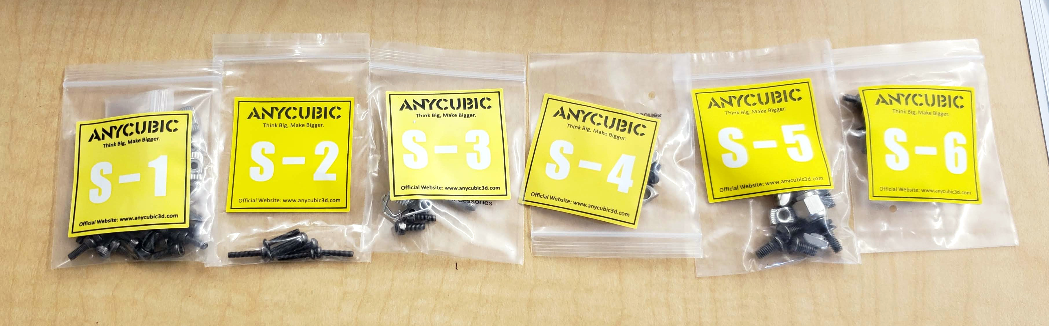 AnyCubic Kossel parts bags